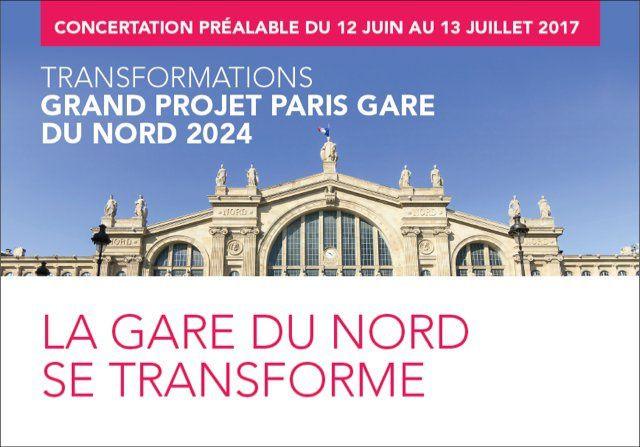 Concertation sur les transformations de la gare du Nord