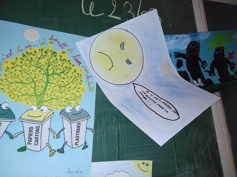 Nos affiches et slogans sur le thème des déchets .