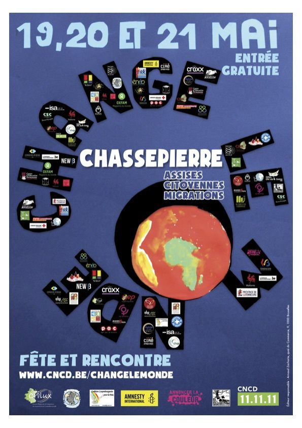 &quot&#x3B;Change le monde &quot&#x3B; ce vendredi 19 mai à Chassepierre, nous participons avec notre classe !