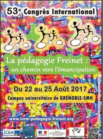Nous sommes de retour du 23 ième Congrès Freinet  à Grenoble !