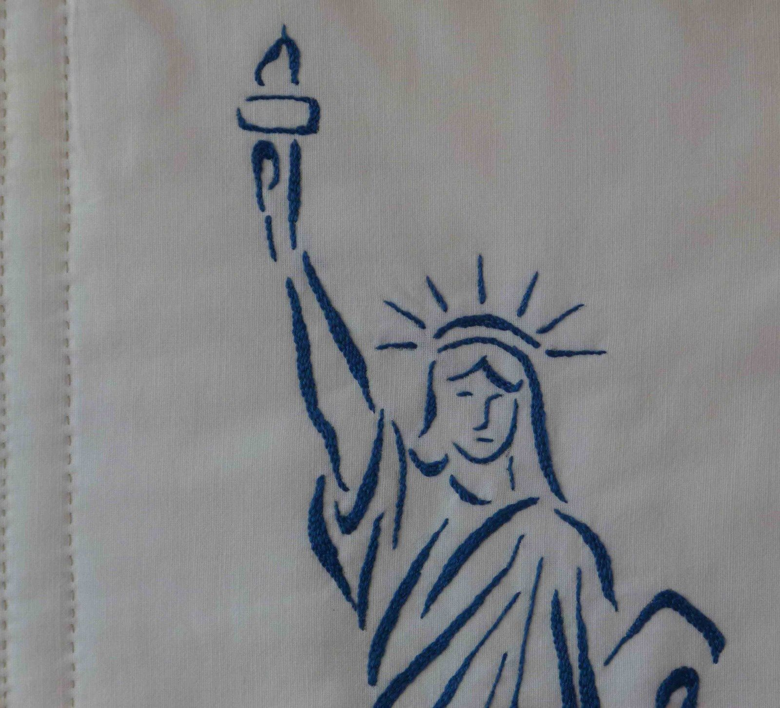 Patchwork et broderie - Statue Of Liberty