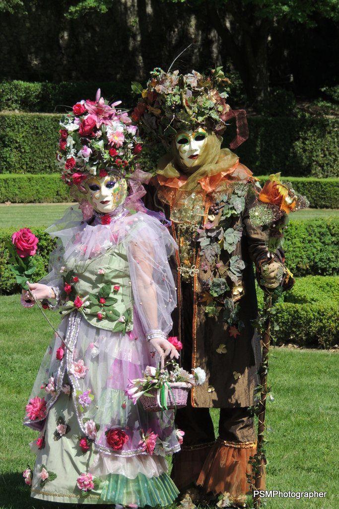 Les Masqués Vénitiens de France au Jardin d'Albertas
