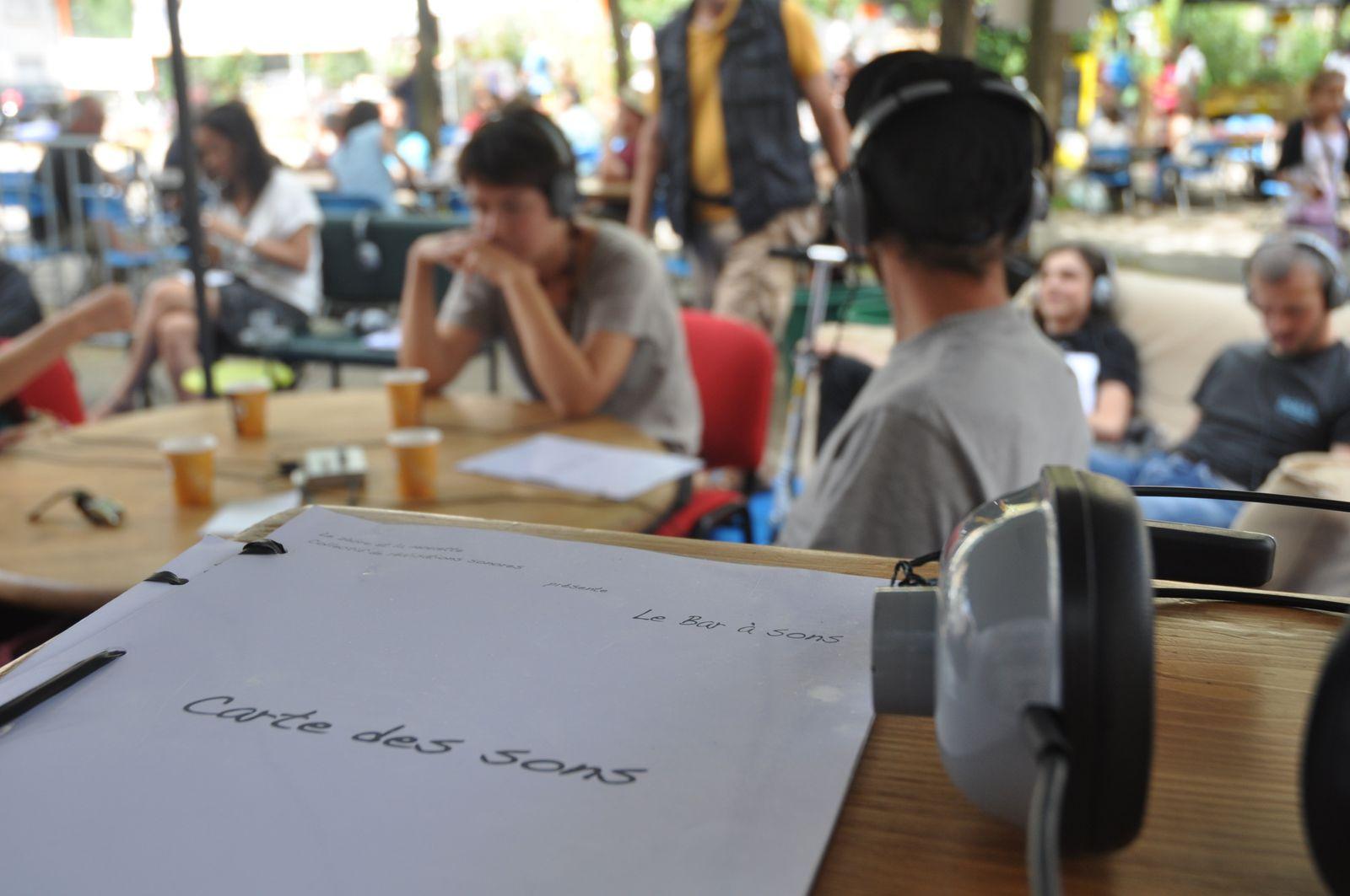 Le bar à sons au festival Maza'grand
