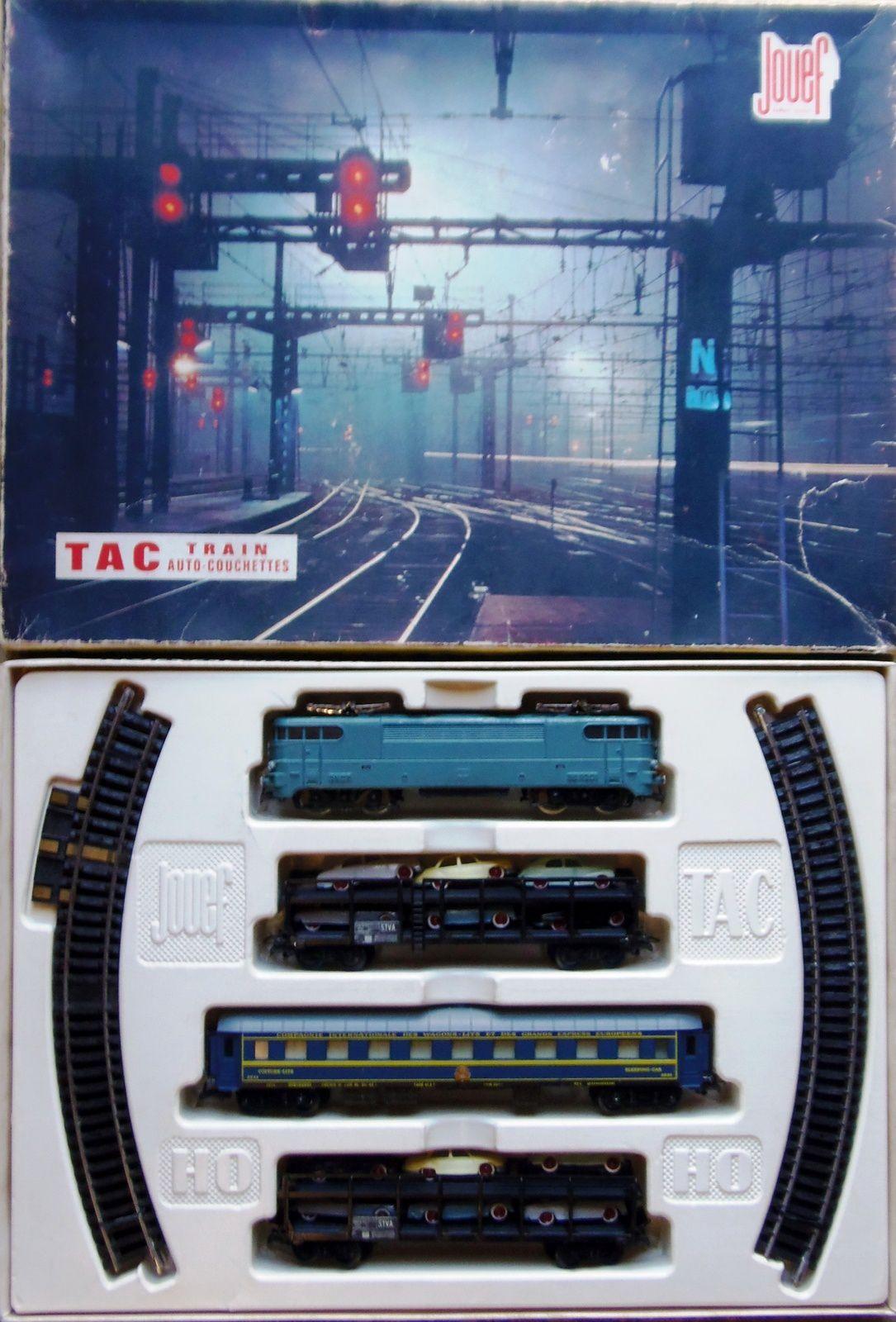 1964 ref 754 tac train auto couchette coffret train. Black Bedroom Furniture Sets. Home Design Ideas