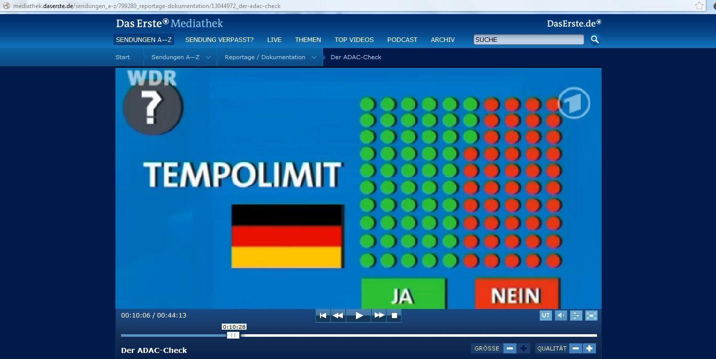 D'après un sondage de l'ADAC, 53 % des Allemands seraint favorables à une baisse des vitesses sur les autoroutes allemandes