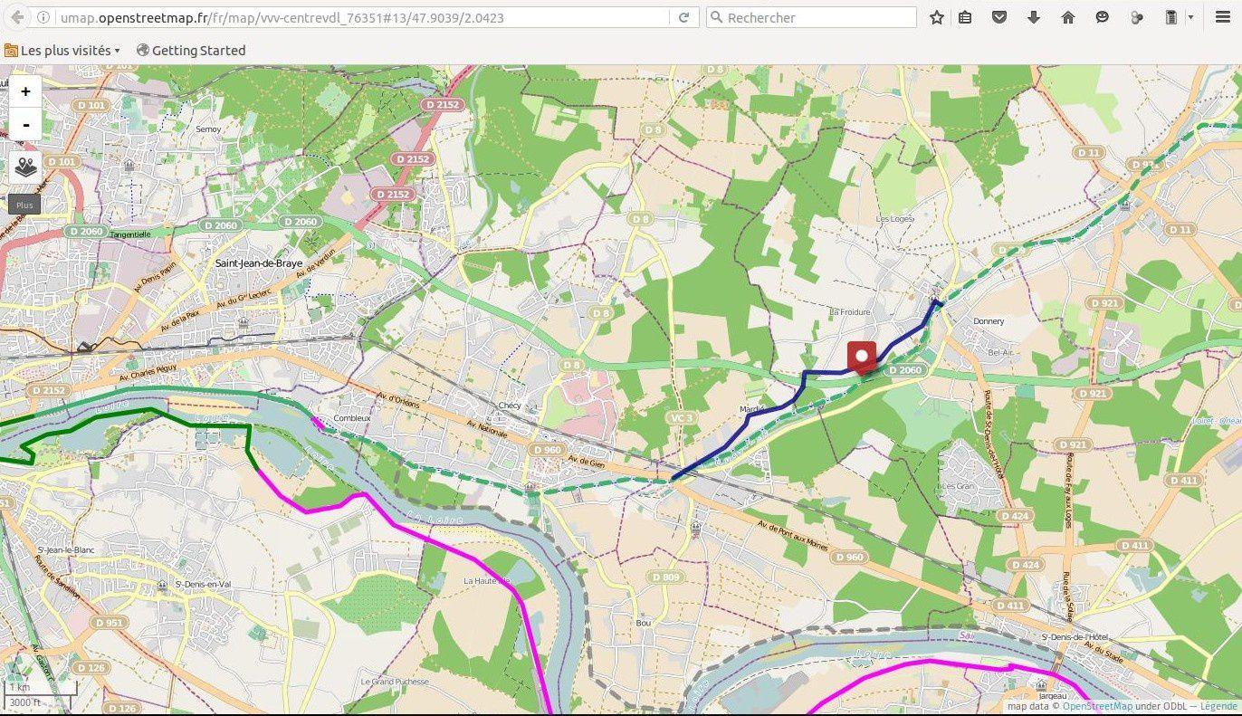 L'EuroVelo 3  &quot&#x3B;Scandibérique&quot&#x3B; de Trondheim en Norvège  à Saint-Jacques de Compostelle  est  parfois impraticable en région centre.
