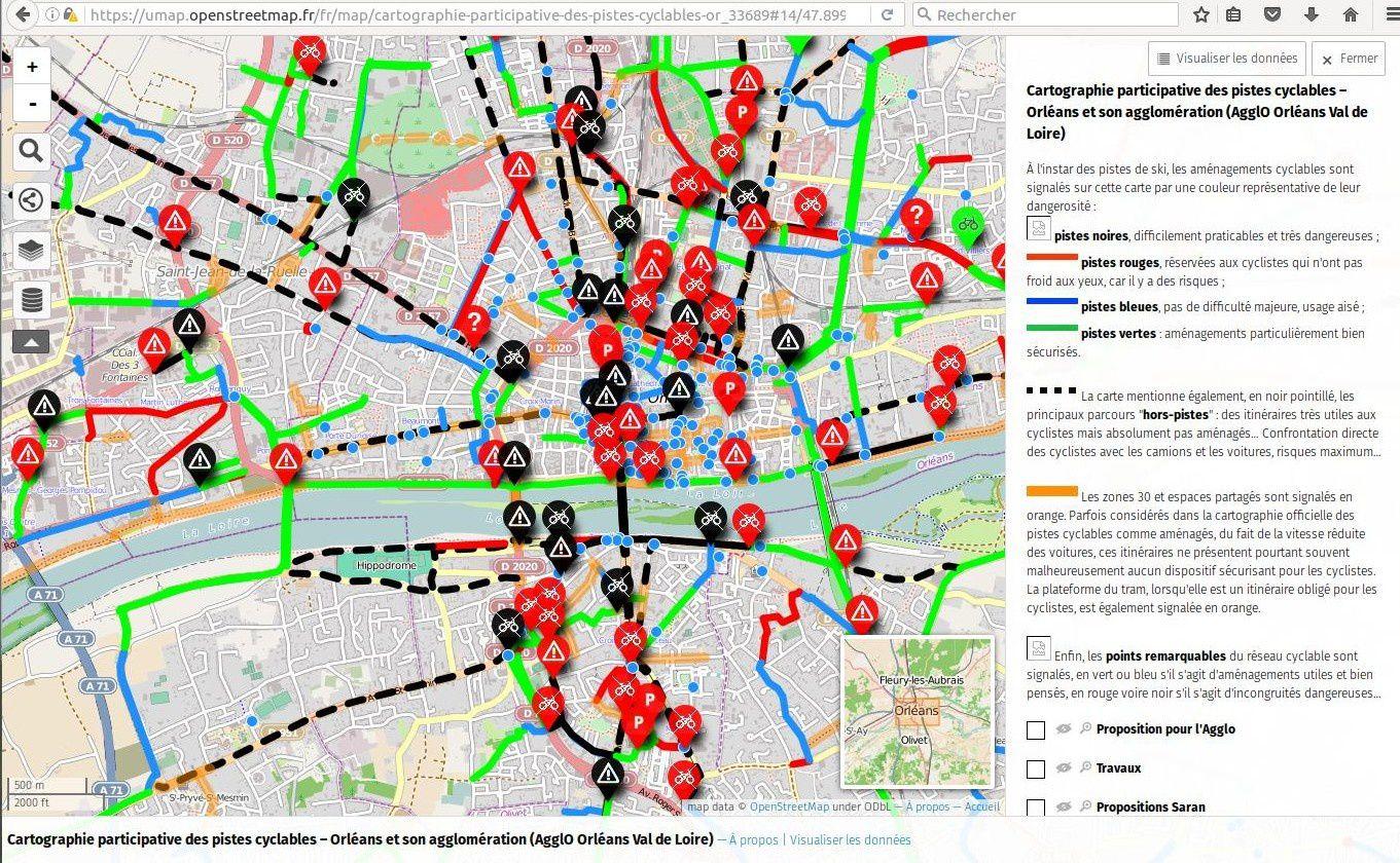 A Orléans, près de 600 cyclistes s'expriment sur les difficultés rencontrées.