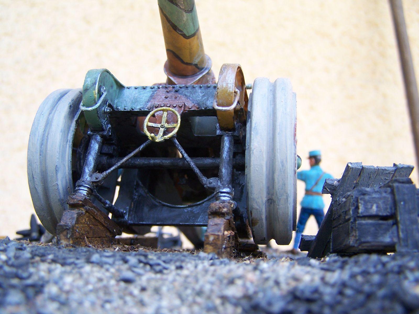 UN diorama d'un canon de marine 145mm Modéle 1916 guerre 1914/1918 WW1