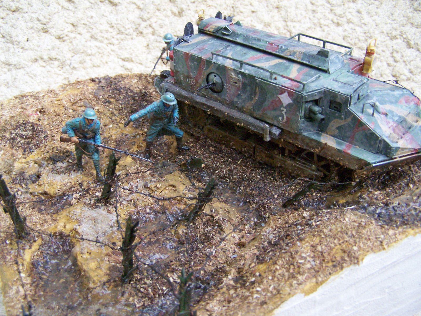 Diorama WW1 Un char un peu oublié de la guerre de 1914/1918 WW1