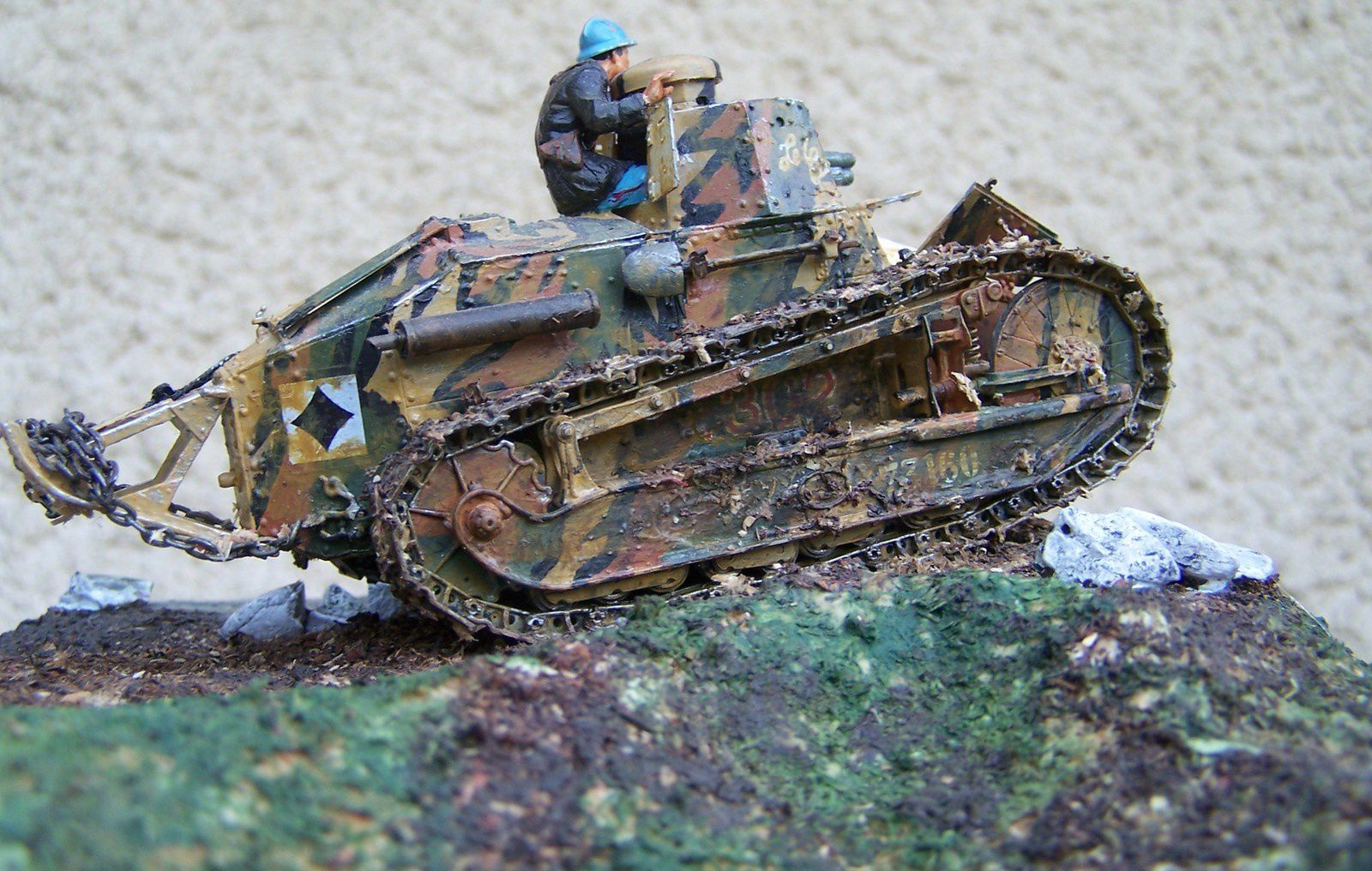 diorama char renault 1917 tank ft 17 ww1 maquettemilitaire. Black Bedroom Furniture Sets. Home Design Ideas