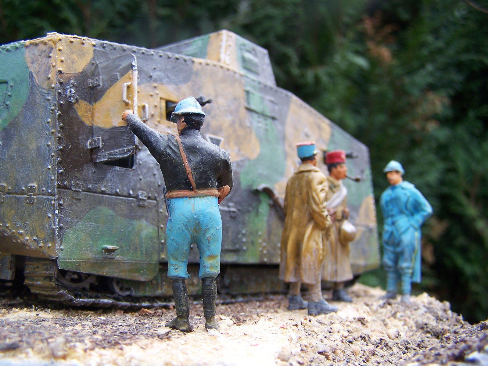 Un nouveau diorama Le Sturmpanzerwagen A7V  Elfriede