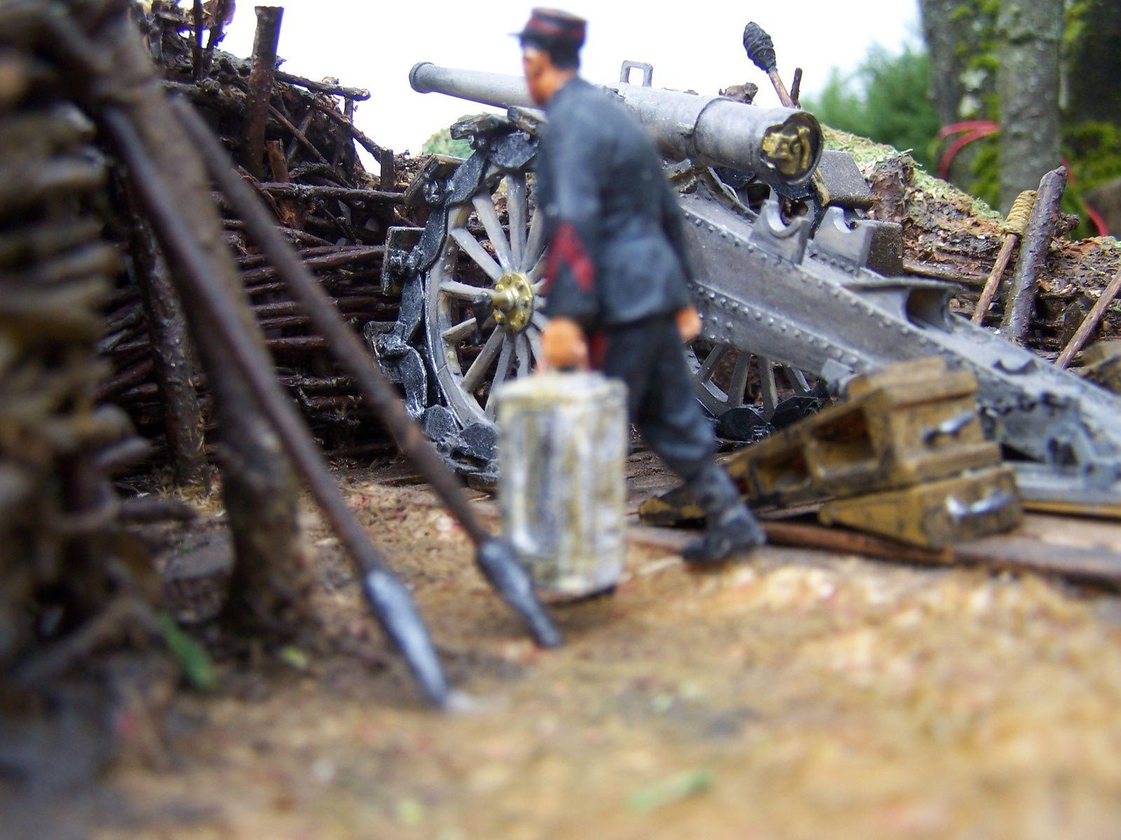 un nouveau diorama :un canon de 120mm De BANGE