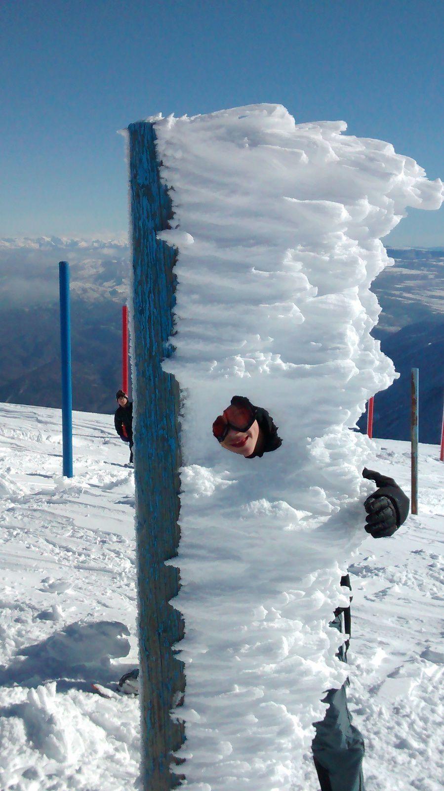Sortie raquettes au Mont Ventoux projet classe Sport