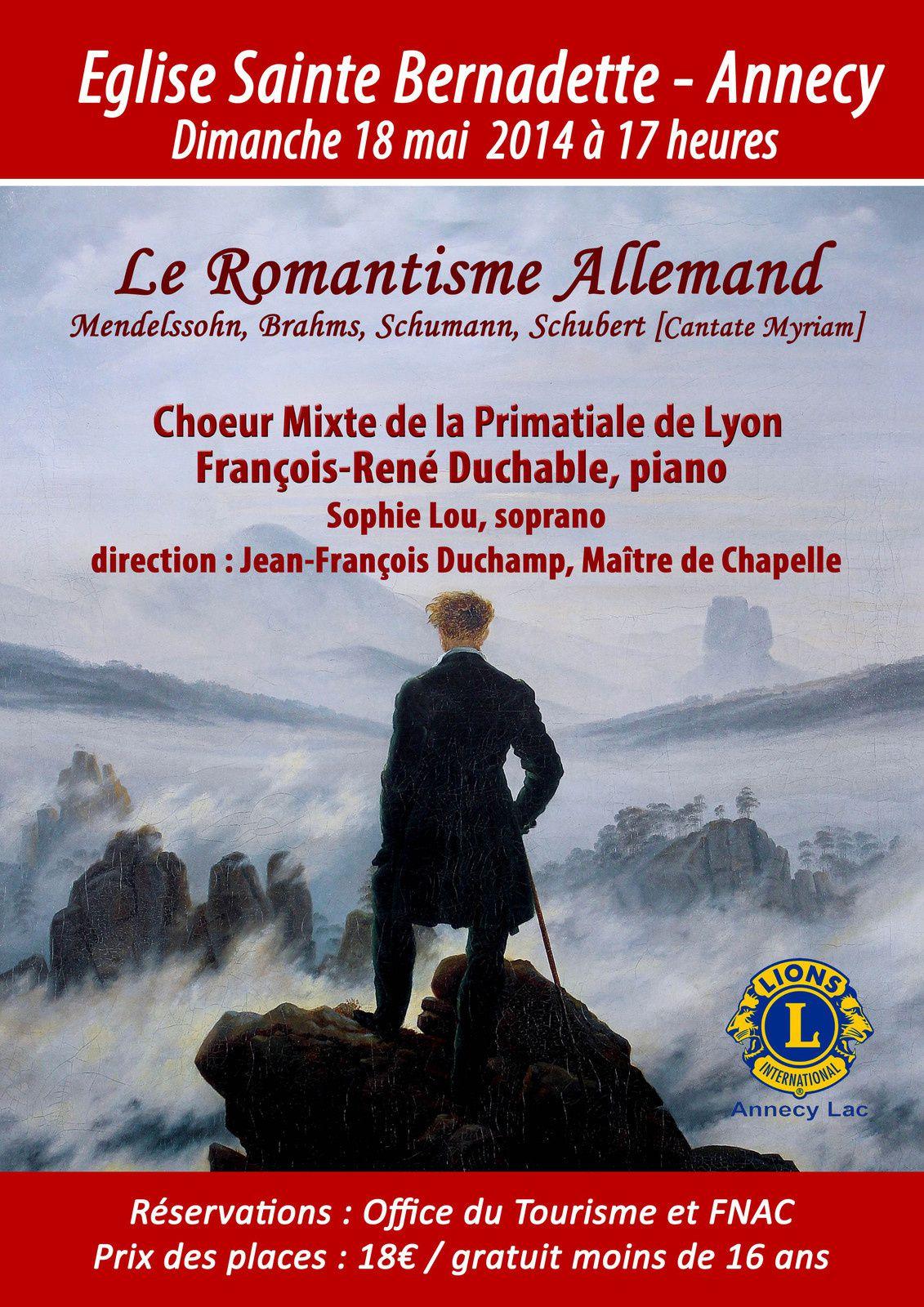 Le Choeur Mixte de la Primatiale de Lyon en concert en l' Eglise Ste Bernadette d'Annecy