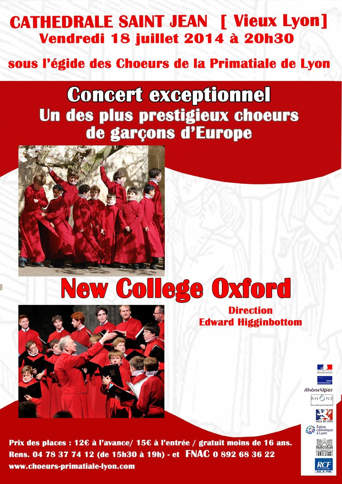 New College Oxford : Concert exceptionnel à Lyon