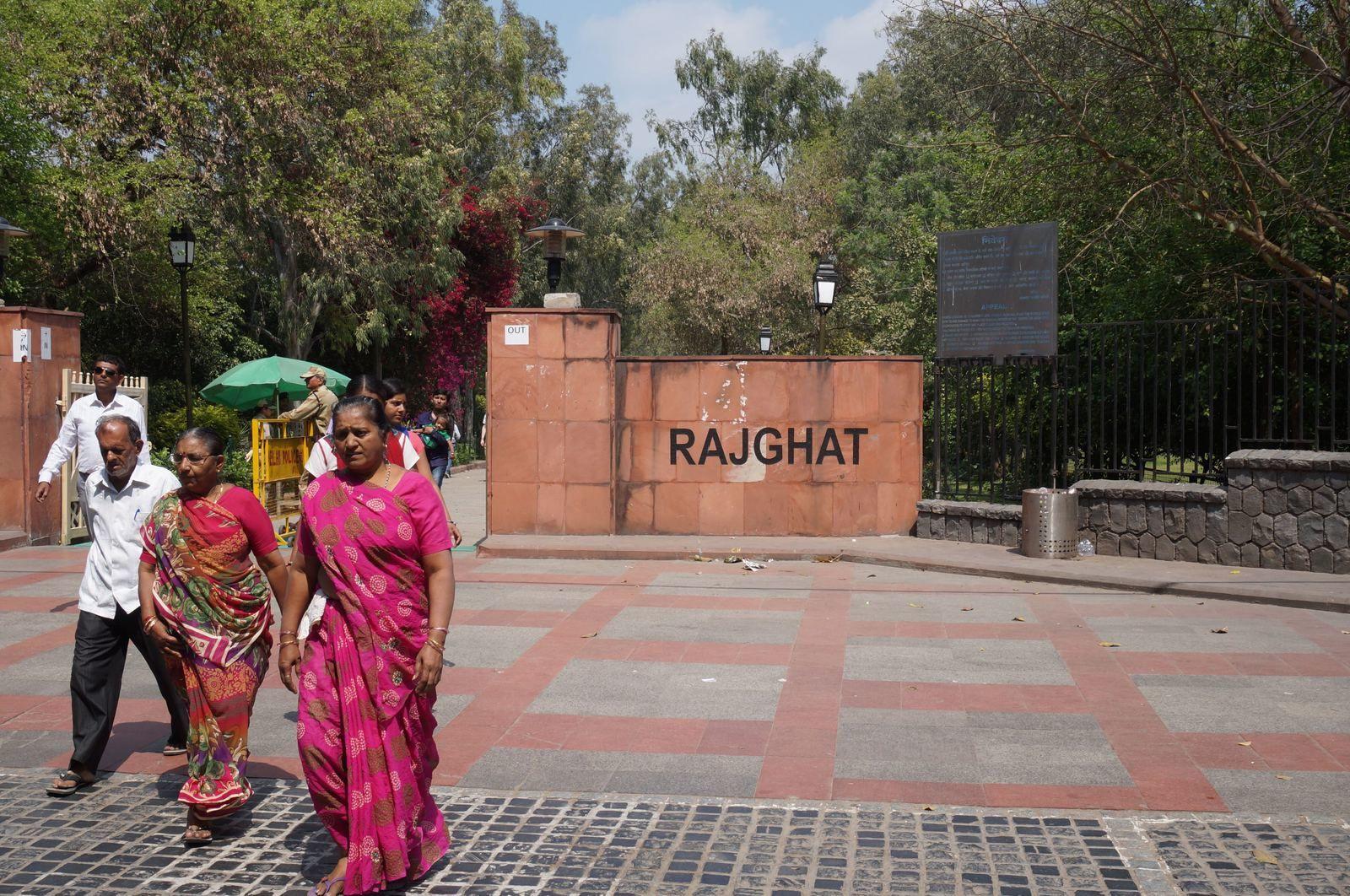 L'Inde : étape 1 : Delhi : le Raj Ghat