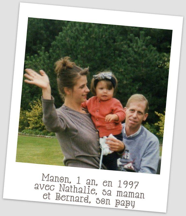 """C'était à Marquette-lez-Lille (59), chez """"Mamy Nénette"""" (Marcelle Jovenet-Debrabant), l'arrière-grand-mère de Manon, en septembre 1997."""
