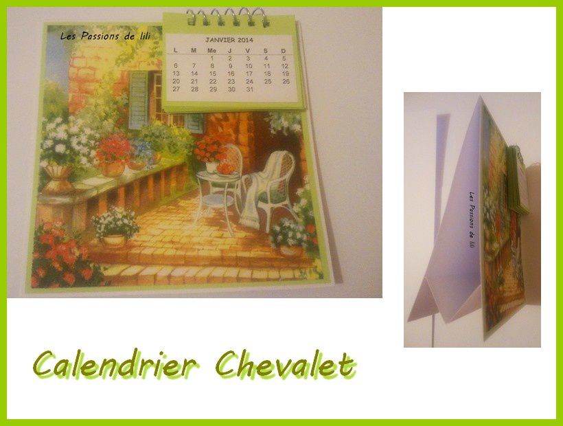 Chevalet calendrier