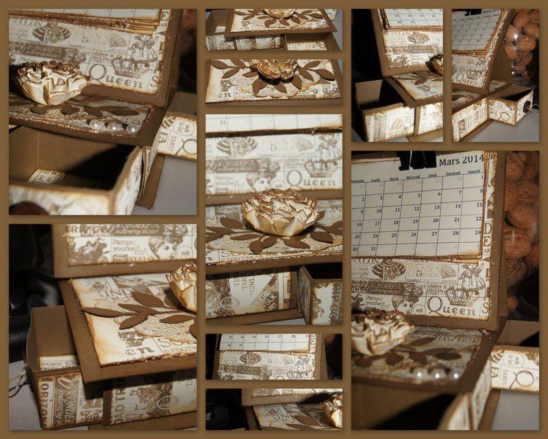Mini calendrier de bureau