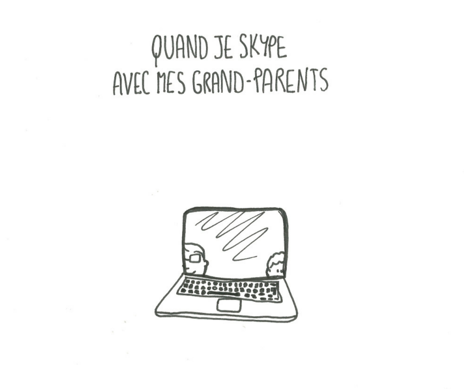 Skype avec les grand-parents