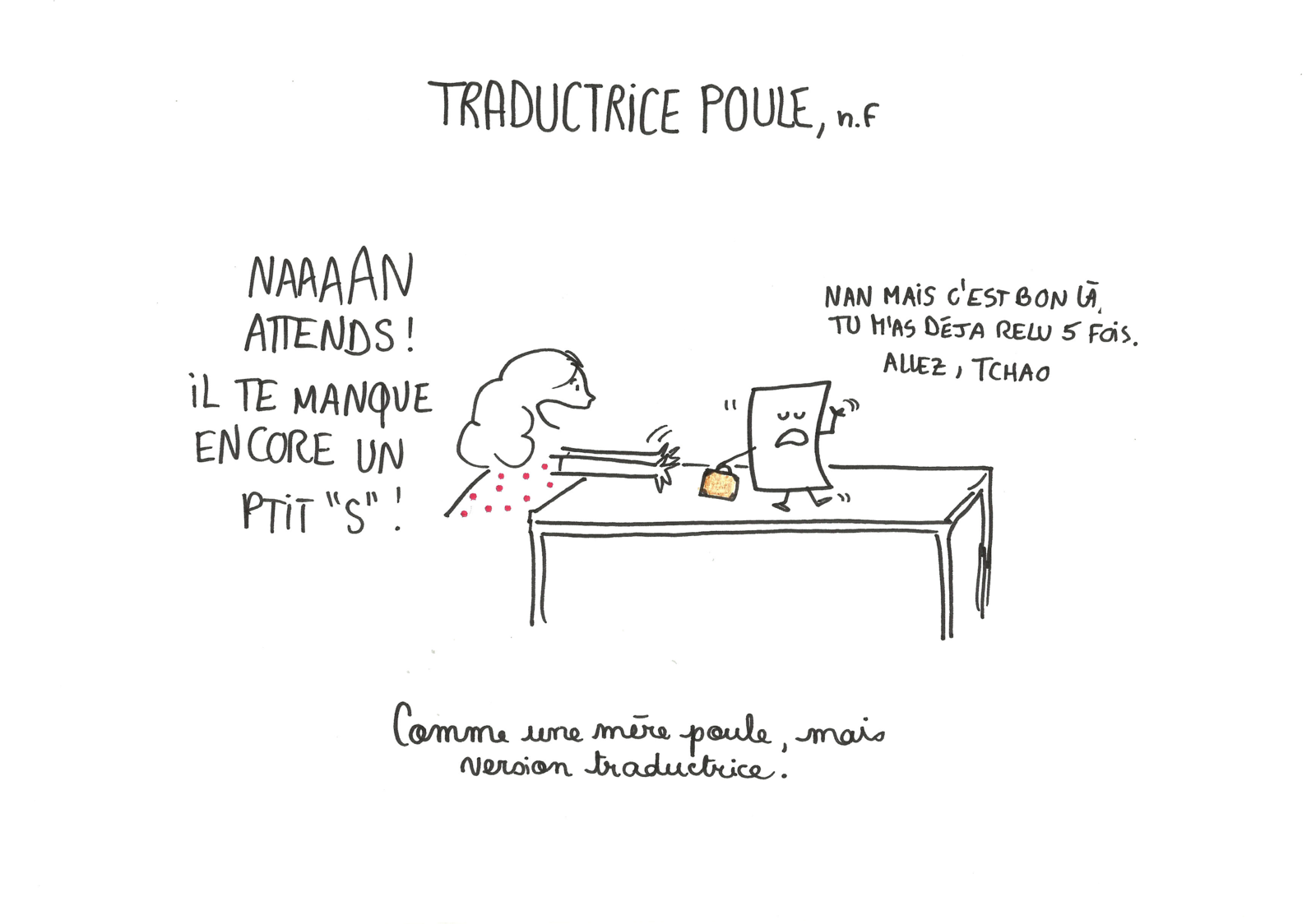 Traductrice poule