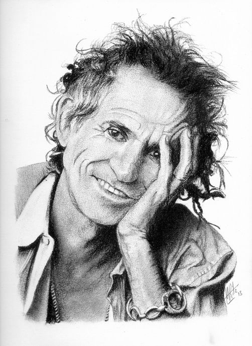 Portrait de Keith Richards