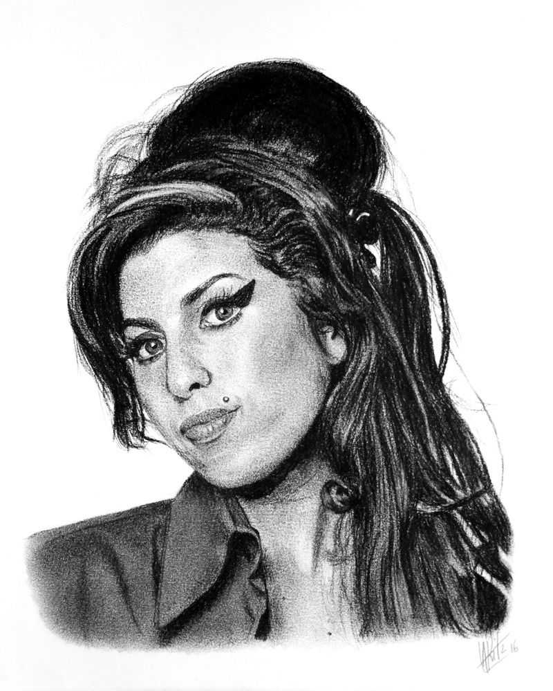 Portrait d'Amy Winehouse