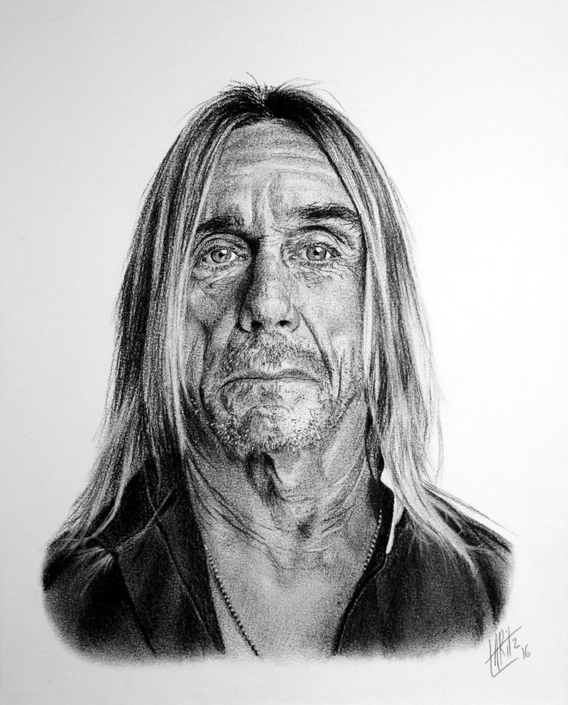 Portrait d'Iggy Pop