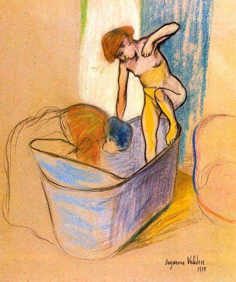 nu au bain  dessin de Suzanne Valadon
