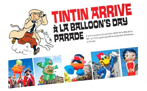 Tintin à la Balloon's day Parade