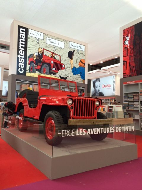 Tintin au Salon du livre de Paris 2014