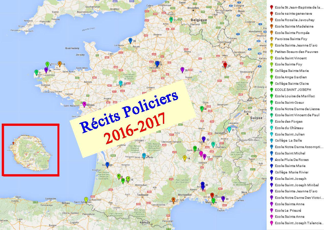 Nos Récits Policiers  : année scolaire 2016-2017  projet collaboratif national