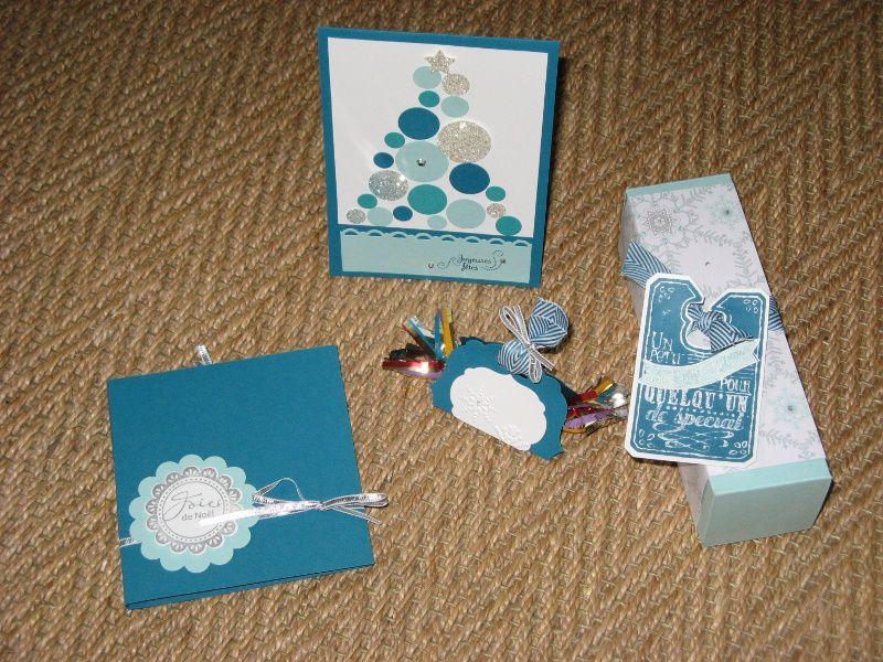 Noël en bleu, blanc et argent