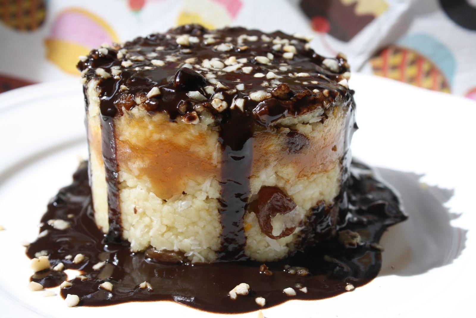 Pastel dulce de cúscus/ gâteau de semoule