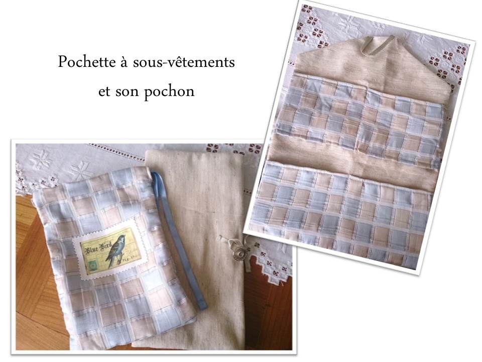 Tous les tissus proviennent de mon stock : linge ancien, tissus ramené du Maroc. Je ne sais plus sur quel site j'avais acheté le transfert... Le lin imprimé vient d'un stand lors du salon Création & Savoir-faire 2013. Broderie maison.