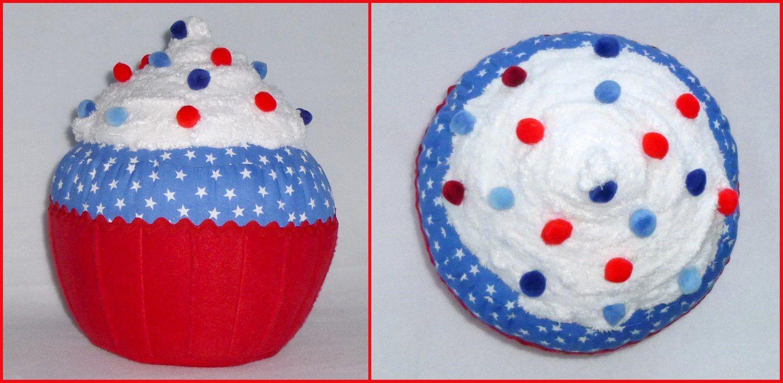 Cupcake bleu blanc rouge