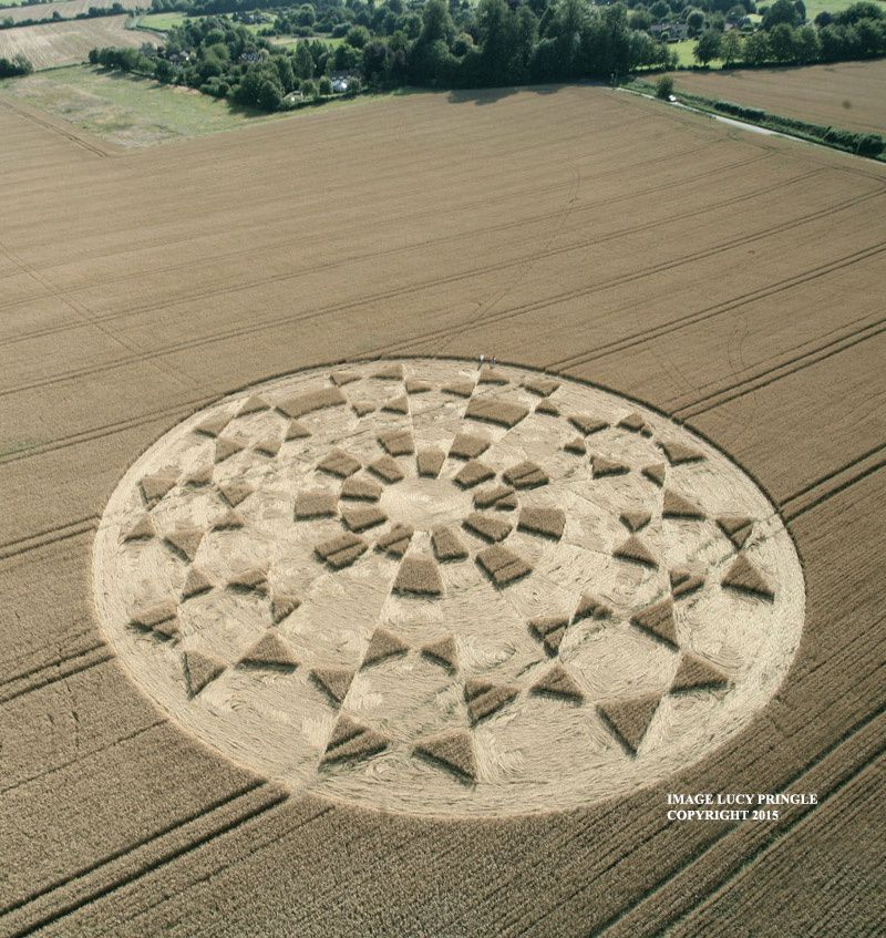 Un crop circle en avertissement
