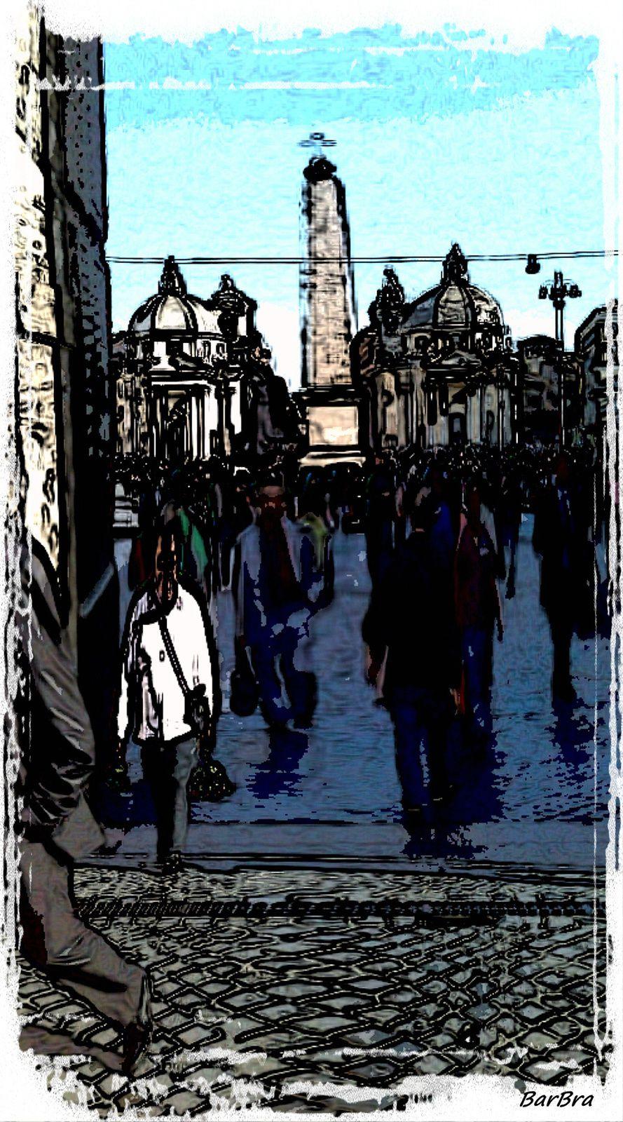 Piazzale Flaminio ... visione distorta