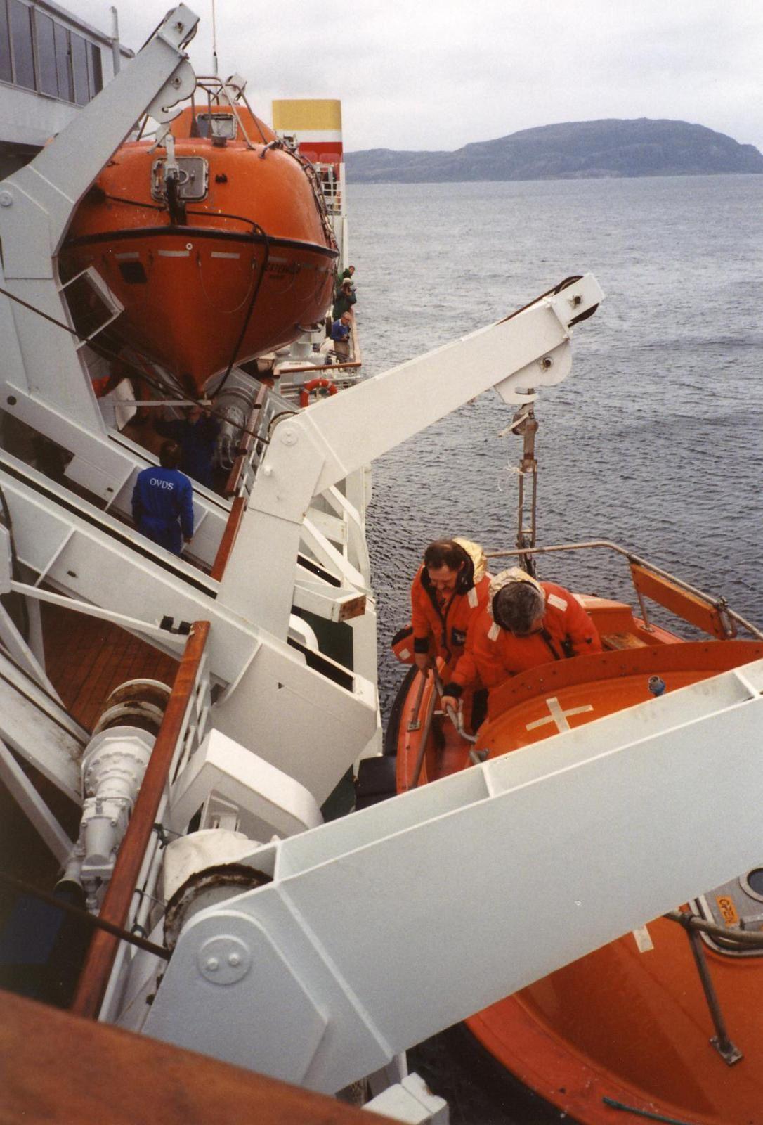 Exercice de sauvetage à Sandnessjoen