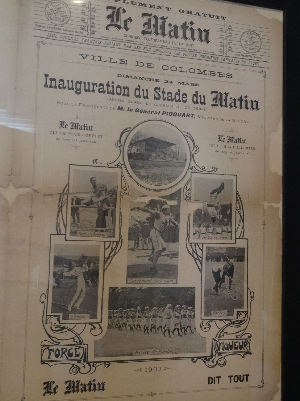 Inauguration du stade du Matin