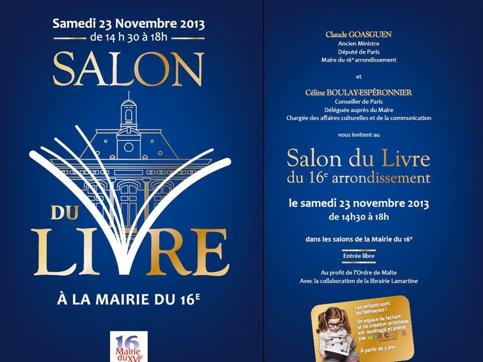 Salon du livre de la mairie du 16 me arrondissement de for Mairie menetou salon