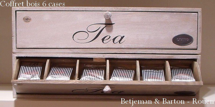 Nouveaux coffrets à thé en bois