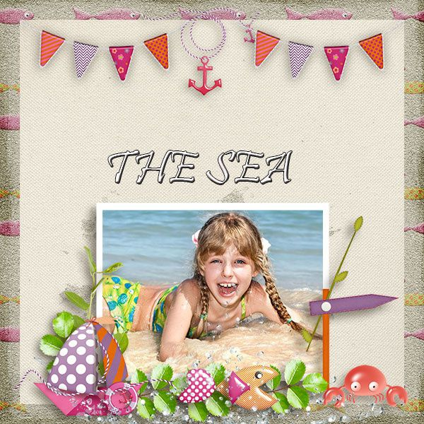 "Ma participation avec le kit ""The seaside"" de Véro The French Touch"