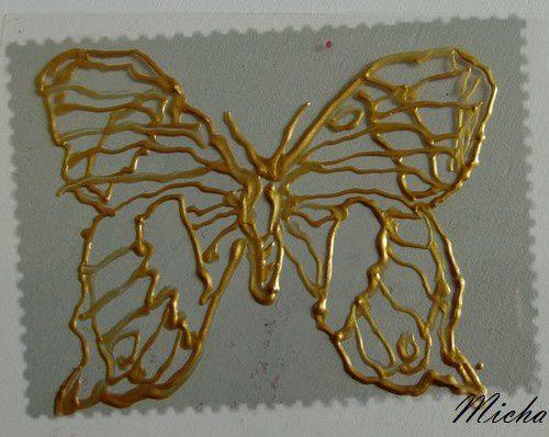 Autre papillon plastique : 1ère étape