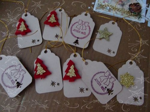 Etiquettes tags papiers craft