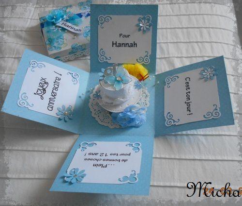 Boîte à explosion pour Hannah