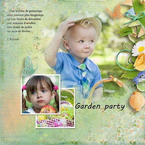 "Mes pages avec le Kit ""Garden Party"" de Vero The French Touch"