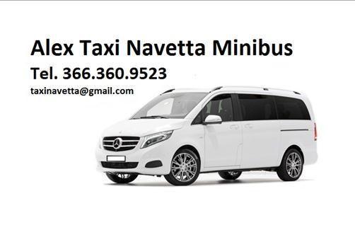 Taxi Navetta Minibus 6/7/8/9 posti Tel. 366.360.9523