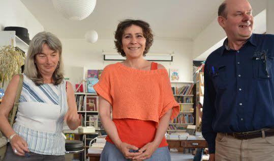 Marie-Monique Robin avec BDZE (photo Le Télégramme)