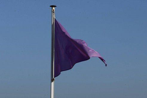 Drapeau violet : baignade interdite pour eau polluée